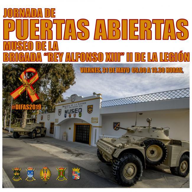 Jornada de Puertas Abiertas de la 'Sala Histórica' de la Brigada de la Legión