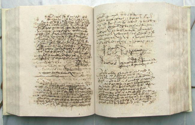 Un protocolo notarial hace 500 años es el Documento del Mes