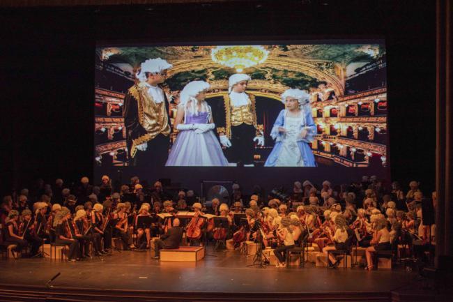 Espectacular actuación de las orquestas Joven e Infantil de la OCAL