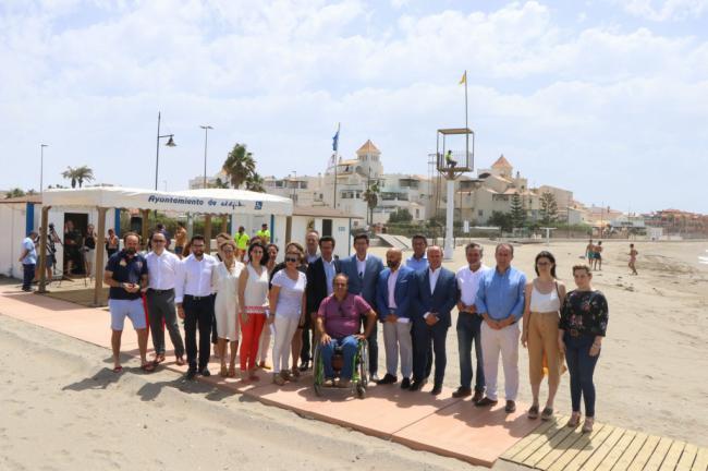 Las playas ejidenses continúan ganando en accesibilidad