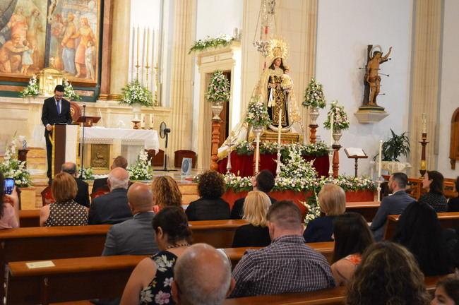 Carlos Sánchez asiste al Pregón de exaltación a Nuestra Señora del Carmen Coronada