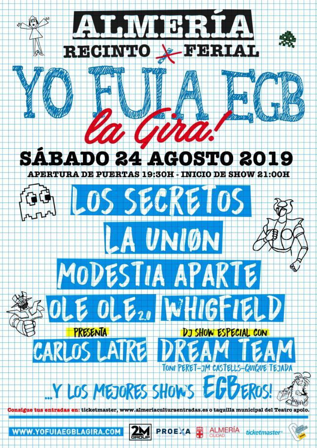 'Yo fui a EGB' ofrecerá cinco horas de música en Almería