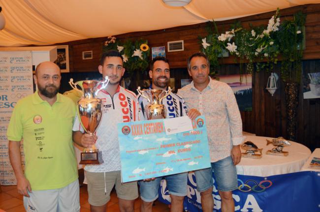 Fernando Salvador y Francisco Rodríguez ganan el 39ª Certamen Andaluz de Pesca