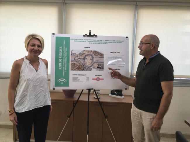 Obras de adecuación peatonal entre la barriada de Archilla y el Parador de las Hortichuelas