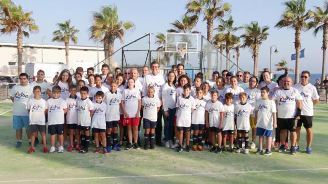 Deporte y diversión en la nueva pista multideportiva de Adra