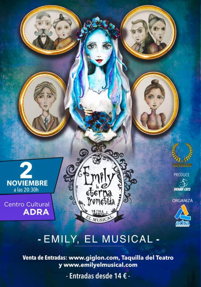 El musical 'Emily, la eterna prometida' llega a Adra