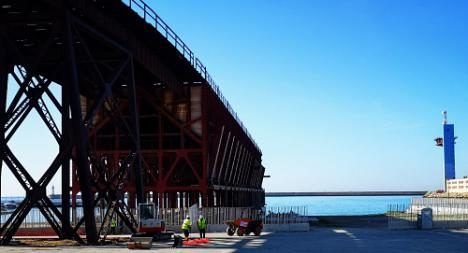La Autoridad Portuaria de Almería inicia la restauración del Cable Inglés