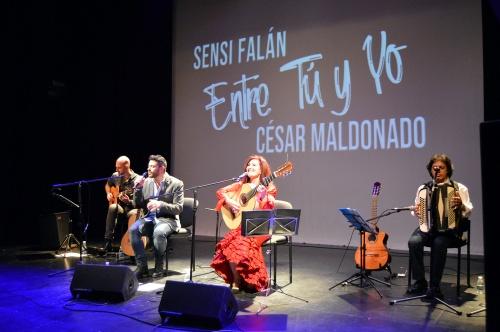 Canciones y brindis de ida y vuelta entre Sensi Falán y César Maldonado