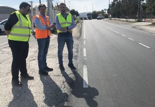 Acaba la pavimentación de dos tramos de la carretera de Iryda de El Ejido