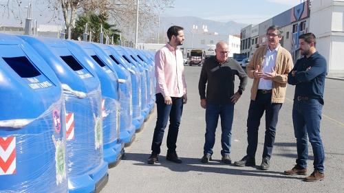 El Ayuntamiento de Adra aumenta un 20% la capacidad de recogida de cartón