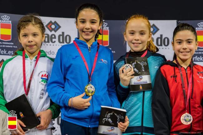 Karate Kanku regresa con 4 medallas de la Liga Nacional Infantil y Juvenil