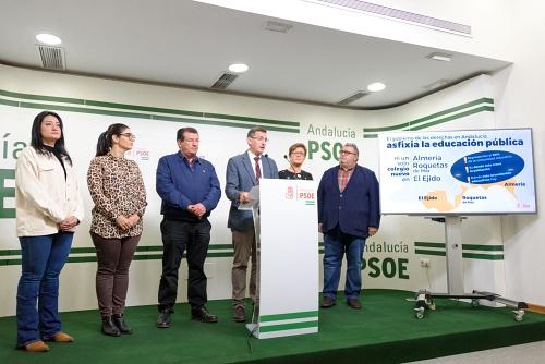 El PSOE denuncia el 'parón' en infraestructuras educativas y oculta lo que hay en presupuestos