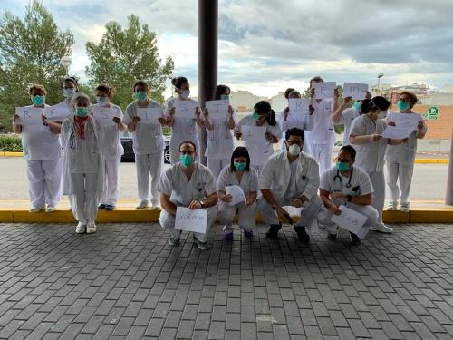 Punto de recogida rápida de muestras de #COVID19 en Hospital de La Inmaculada