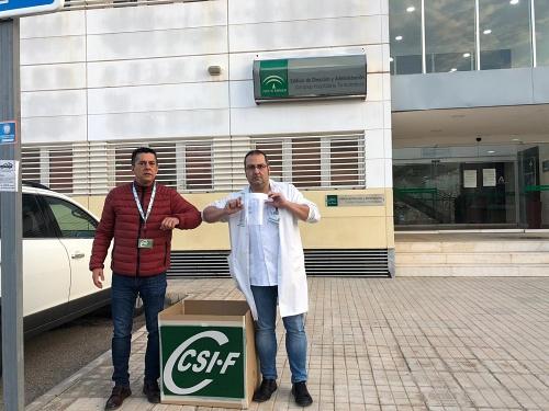 Imprenta Gutenberg y CSIF 500 pantallas de protección facial a Enfermería de Torrecárdenas