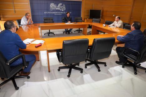 El alcalde de El Ejido informa a los Portavoces de las medidas frente al #COVID19