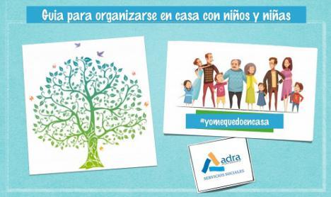 Ayuntamiento de Adra crea una guía para organizarse en casa con los niños