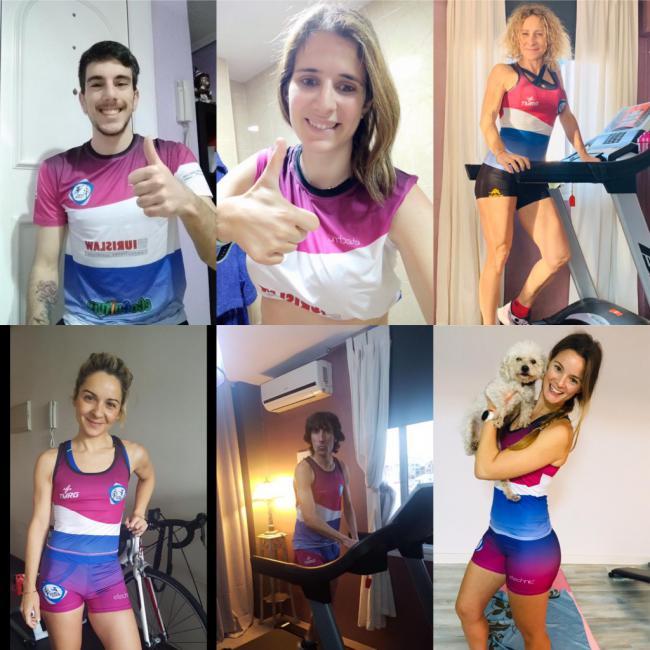 El atletismo máster y el CD Unión Atletas Almería no para ni confinado