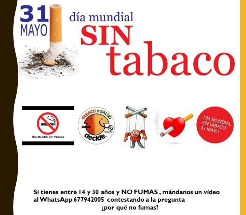 Adra celebrará el Día Mundial sin Tabaco con un vídeo grabado por vecinos