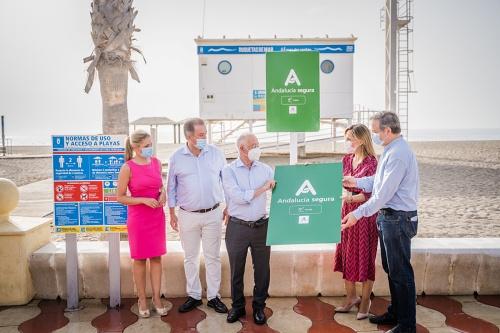 Distintivo 'Andalucía Segura' para las playas de Roquetas de Mar