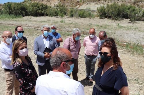 Crespo visita la restauración de los cauces afectados por la DANA en Huércal Overa y Sorbas