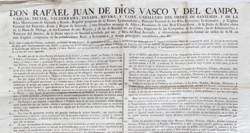 Así se luchó en Almería contra la fiebre de amarilla de 1803