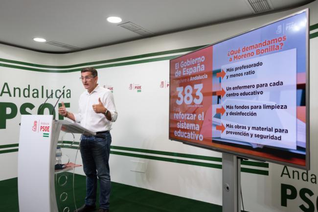 El PSOE reclama 1.000 docentes para una vuelta al colegio segura en Primaria y Secundaria