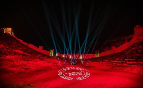 El Ayuntamiento apoya al sector de la cultura luminando de rojo seis espacios