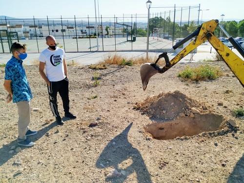 Reconocimiento geotécnico del terreno para el circuito de pumptrack de Huércal de Almería