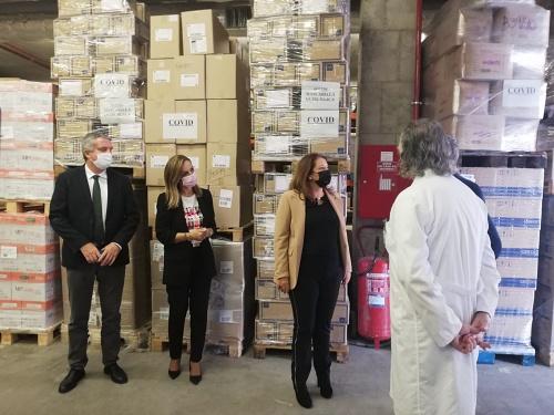 """El nuevo almacén del SAS en Almería """"garantiza el stock' ante el #COVID19"""