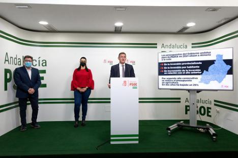 El PSOE asegura que los Presupuestos de la Junta dan la espalda a Almería