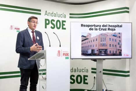 El PSOE exige reabrir el Hospital de la Cruz Roja ante el avance del #COVID19