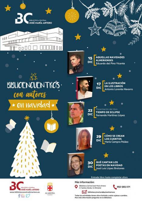 'Biblioencuentros con autores en Navidad' en la Biblioteca Central