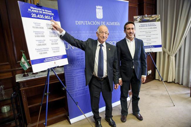 Diputación destina más de cuatro millones y medio de euros a nuevos Planes de Inversión en Almería