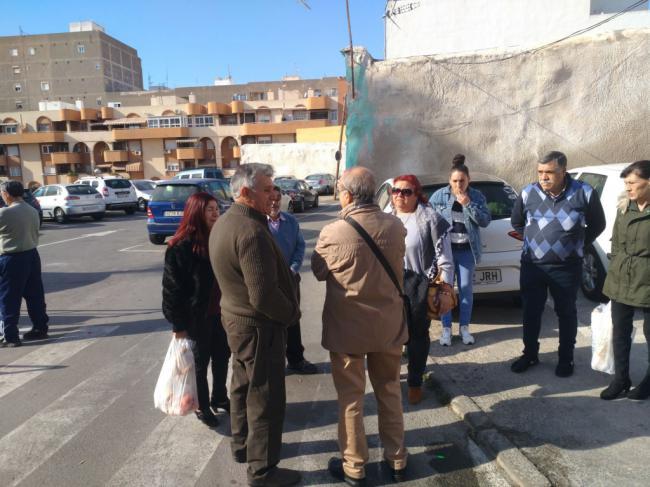 IU denuncia la deplorable situación en que se encuentra el Barrio Alto