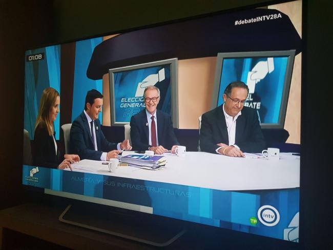 Javier A. García (PP) gana el debate a PSOE y Cs en Interalmería TV