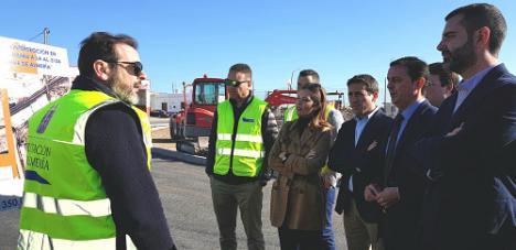 En Semana Santa estará listo el nuevo acceso al IES Sol de Portocarrero y la reordenación del tráfico