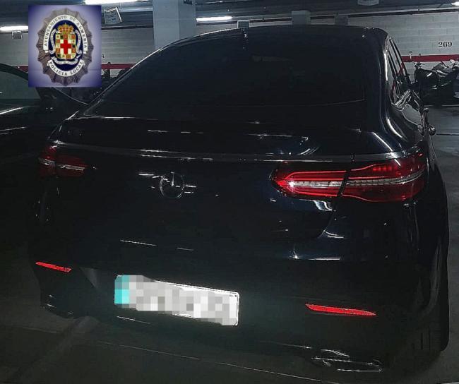 La Policía Local de Almería intercepta un vehículo de alta gama robado en Alemania