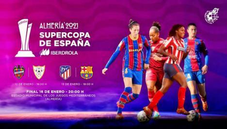 Almería se engalana para la Supercopa de España de fútbol femenino