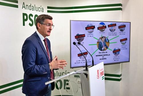 El negro balance que el PSOE hace de la gestión de Moreno Bonilla con Almería