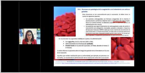 La vacuna de COVID-19 estudiada en una sesión formativa para farmacéuticos