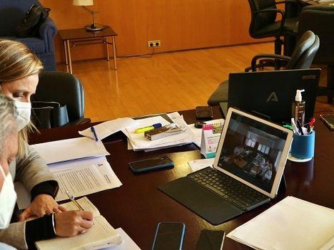 Reunión de Junta y gerentes de hospitales por la situación del covid-19