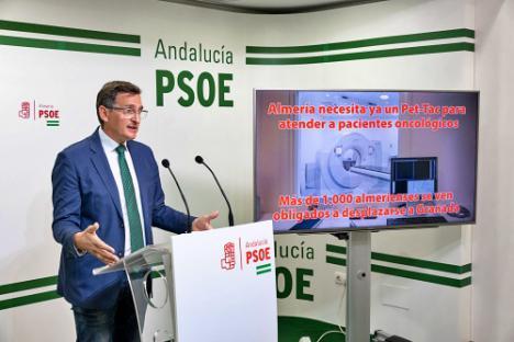 El PSOE exige al Gobierno andaluz que instale urgentemente en Torrecárdenas el PET TAC que necesita Oncología