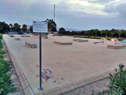 Otra de vandalismo: el cartel de la pista de skate