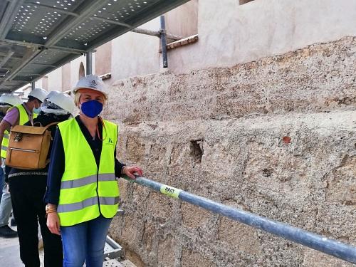 A buen ritmo la restauración de la Muralla Norte del Primer Recinto de la Alcazaba