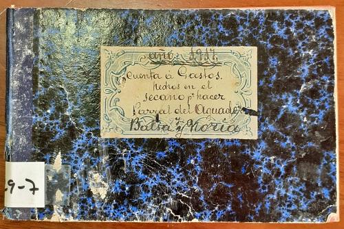 Una libreta de 1917 para hacer un parral en Berja es el Documento del Mes en el Archivo Histórico