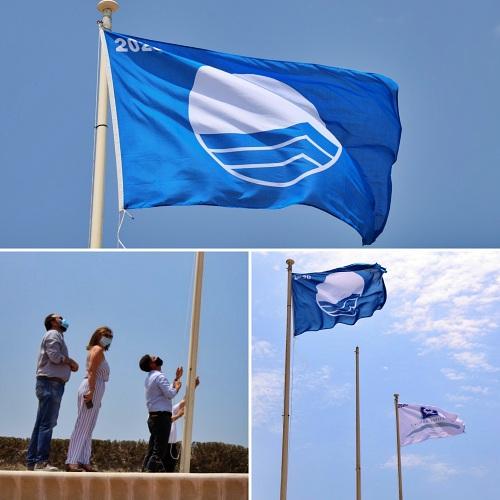 El Ejido renueva cuatro Banderas Azules para sus playas