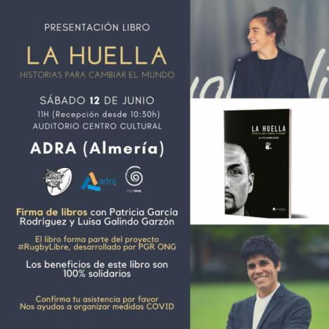 La olímpica de rugby Patricia García presenta el libro solidario 'La Huella' en Adra