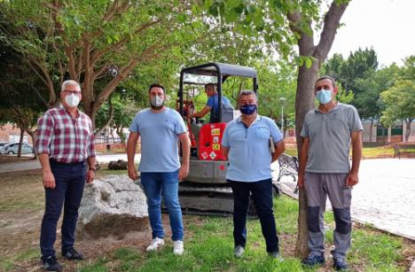 Segunda fase de obras en el Parque del Pabellón en Huércal