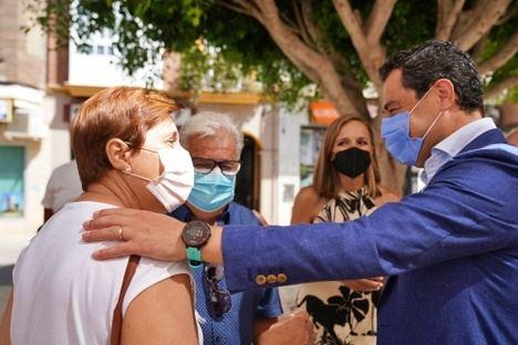 El presidente de la Junta visita Huércal Overa