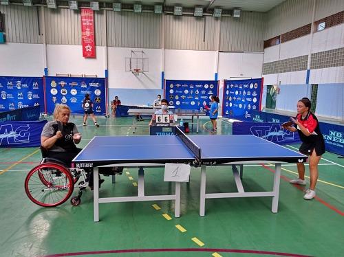 Huércal recibe a 60 jugadoras de toda Andalucía en el IV Top Mujer y Tenis de Mesa Andaluz